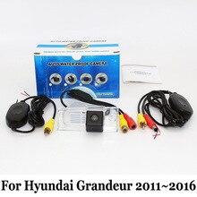 HD Широкоугольный Объектив Камера Заднего вида Для Hyundai Grandeur HG 2011 ~ 2016/Проводной Или Беспроводной/Доказательство Воды CCD Ночного Видения камера