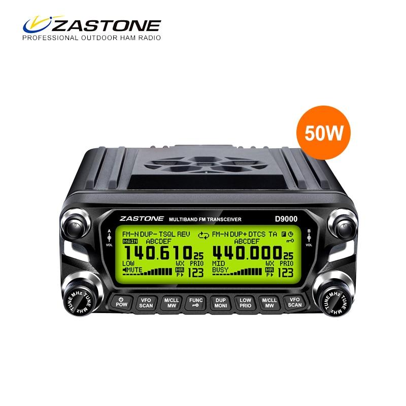 Zastone D9000 Voiture Radio Talkie Walkie 50 km Mobile Radio Station 50 w VHF UHF 136-174 mhz 400 -520 mhz comunicador Deux Way Radio