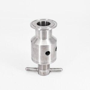 """Image 5 - 1.5 """"Tri Morsetto 0.5 5 Bar Regolabile Limitatrice di Pressione Valvola di Sicurezza Sanitari SUS 304 In Acciaio Inox Birra di Fermentazione fermentatore Keg"""