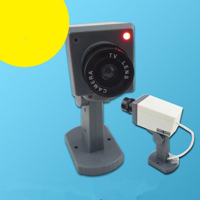 Hot sells Waterproof Outdoor Indoor Fake Camera Security Dummy CCTV Surveillance Camera Night CAM LED Light Color