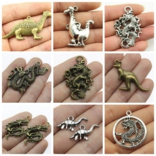 Dragon Pendant Dinosaur Party Mix Charms Men's Jewelry Making Diy Craft Supplies Handmade Jewelry Gift 2019 mix elephant necklace pendant charms for jewelry making diy craft supplies men jewelry elephant god