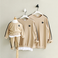 HT957 New Spring Clothing Winter Mother Baby Father Costume Family Matching Outfits Thicker Family Clothes Baby