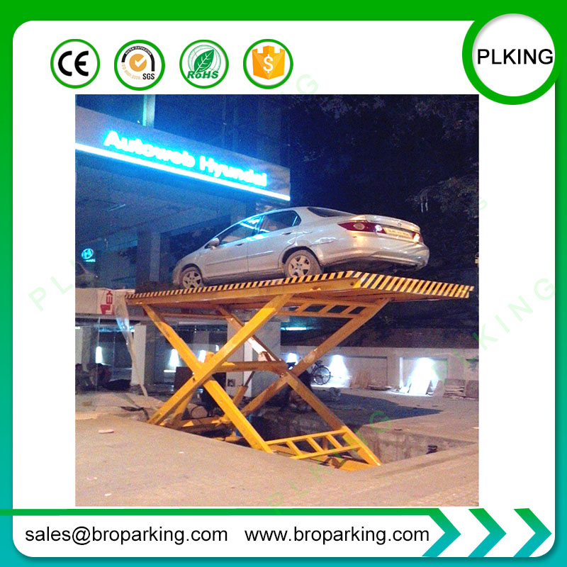 High Quality Hydraulic Electric Vertical Scissor Car Lift Table Car Parking Lift