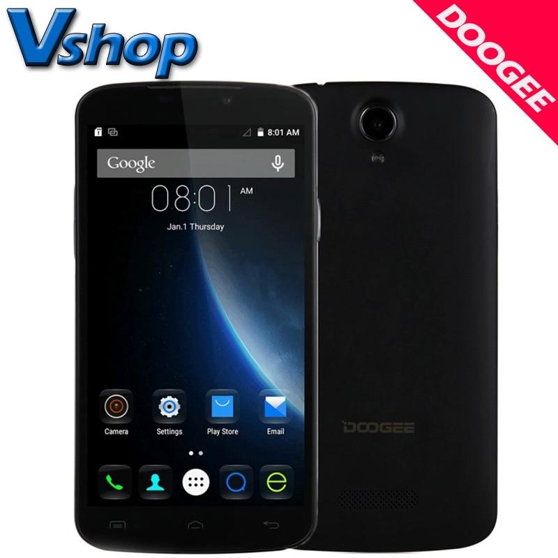 Цена за Оригинал DOOGEE X6 3G Мобильного телефоны Android 5.1 1 ГБ RAM 8 ГБ ROM MT6580 Quad Core 720 P 5.0MP Камера Dual SIM 5.5 дюймов Сотовый Телефон смартфон