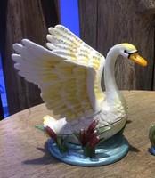 Swans Enameled Jewelry Trinket Box Crystal Swan Trinket Vintage Swans Gift Crafts Jewelry Box 9.5*9.8 CM