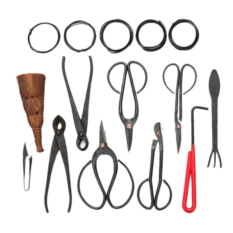 Nouveau 10 pièces ensemble d'outils bonsaï en acier au carbone Kit de ciseaux de coupe étendu avec étui en Nylon pour outils d'élagage de jardin
