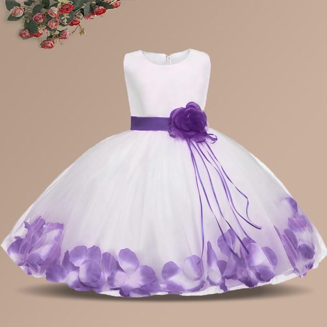 9b554147e6c1f Bébé fleur fille robe enfants robe de baptême vêtements de baptême nouveau-né  bébé fille