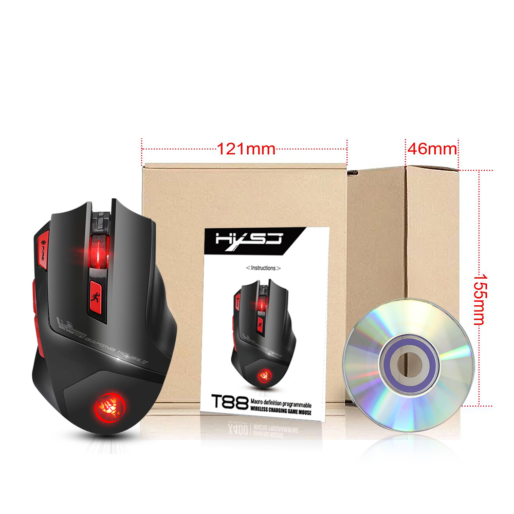 Image 5 - HXSJ new wireless 2.4G gaming mouse wireless mouse 7 key macro definition 4400 adjustable DPI office PC notebook mice-in Mice from Computer & Office