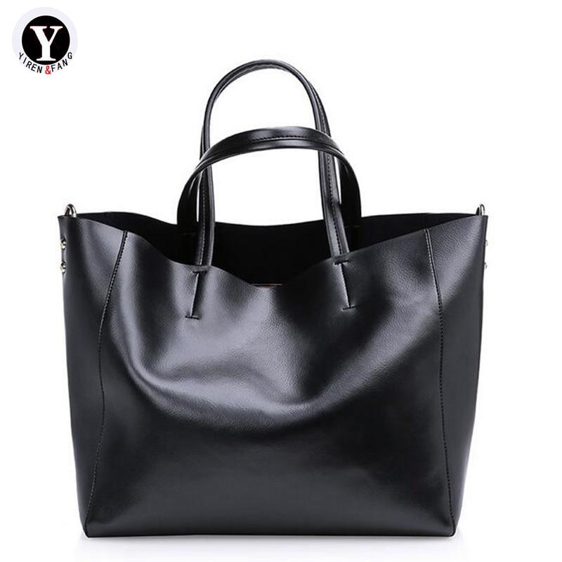 Yirenfang äkta läderväskor lyxväskor damväskor designer 2018 - Handväskor