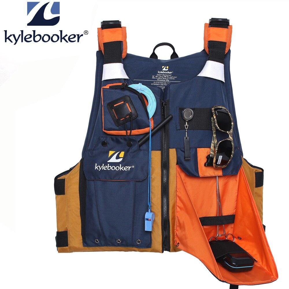 新しい屋外フライフィッシングベストカヤック釣りライフジャケット男性通気性安全チョッキサバイバルユーティリティ Pfd  グループ上の スポーツ & エンターテイメント からの フィッシング ベスト の中 1