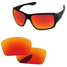 Поликарбонат-огненные красные зеркальные Сменные линзы для больших Тако солнцезащитные очки оправа UVA и UVB Защита