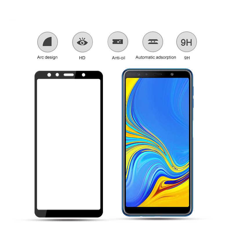 Nicotd 新 9D サムスン A8 A7 A9 J8 2018 強化ガラス三星銀河 A6 プラス J6 A7 A9 j2 プロ 2018 スクリーンプロテクターフィルム