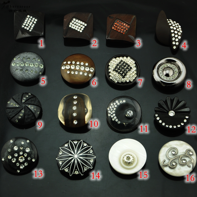 Free shipping BIG NEW diy craft supplies buttons Handmade decorative Rhinestone Button Resin, butang jahit untuk mantel bulu