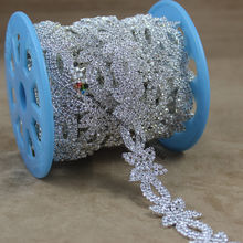 1 Yard 23mm Bling Clear Czech Crystal Chain Rhinestone Cup Chain Trim  Silver Metal For DIY Browband Dress Wedding Decoration c12135dc9518