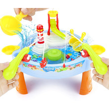 Novel magnetic Electric Fishing toys table with Light music Summer Water toys kids birthday Christmas gift Toys for children(China)
