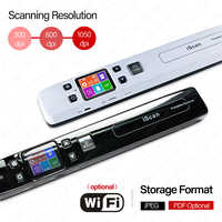 Wireless WiFi Portable A4 Digital Scanner Handheld 1050DPI Handyscan Document Camera Photo Books JPEG PDF Formate TF Card SALEUS