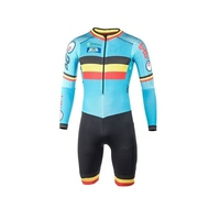 2017 Team Belgium Summer Cycling Jersey Skinsuits Belgian Flag Bike Bodysuits MTB Ropa Ciclismo Bicycle Maillot