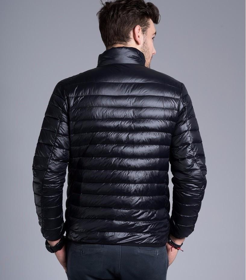 Men casual warm Jackets solid thin breathable Winter Jacket Mens outwear Coat Lightweight parka Plus size XXXL hombre jaqueta 4