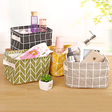 Seluna Καλάθι αποθήκευσης Desktop Χαριτωμένο εκτύπωση αδιάβροχο διοργανωτής Βαμβακερά σεντόνια Sundries Αποθήκευση κουτί Ερμάρια Εσώρουχα τσάντα αποθήκευσης