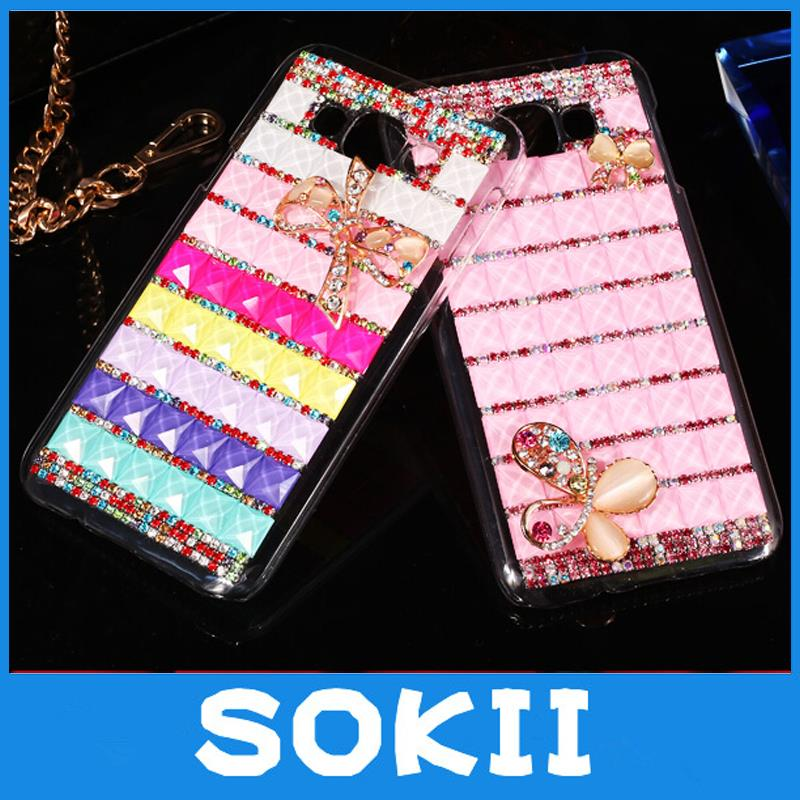 3D Luxury Bling Crystal Bow Fashion Designed Diamond Rhinestones Case Back Cover For LG Volt 2/LG Stylus 2 F720 LS775 K520 Case