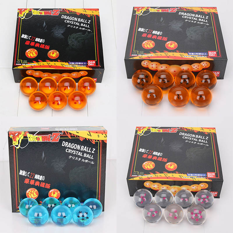 Anime DragonBall 7 Stars 7pcs//set 4cm Crystal Ball Dragon Ball Z Balls Complete