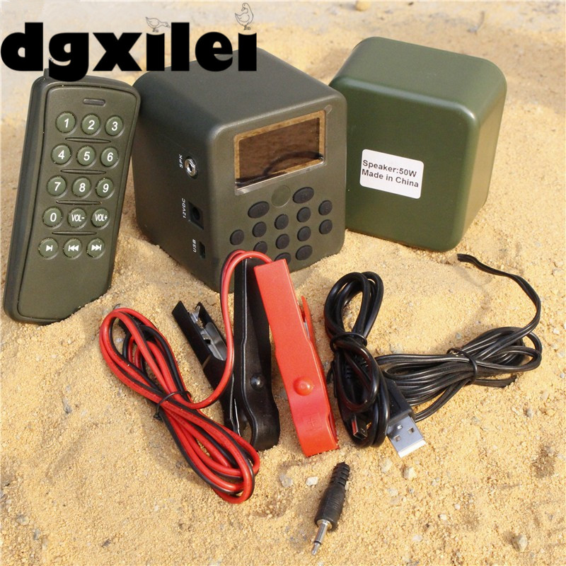 Wholesale Outdoor 100~200M Remote Control Download Voice Quail Bird Sound Mp3 Downloads Hunting Bird Caller With 210 Bird Sounds 210 sounds 50w sounds birds caller hunting decoy mp3 player bird hunting trap mp3 with 100 200m remote control