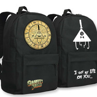 Gravity Falls Schoolbag for Boys Girls Beautiful Drama Bill Students Backpack for School