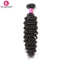 Aphro מוצרים לשיער פרואני עמוק גל שיער 1 צרור יכול להיות מעורב תוספות שיער אדם רמי שיער Weave צבע טבעי 8-24 inch