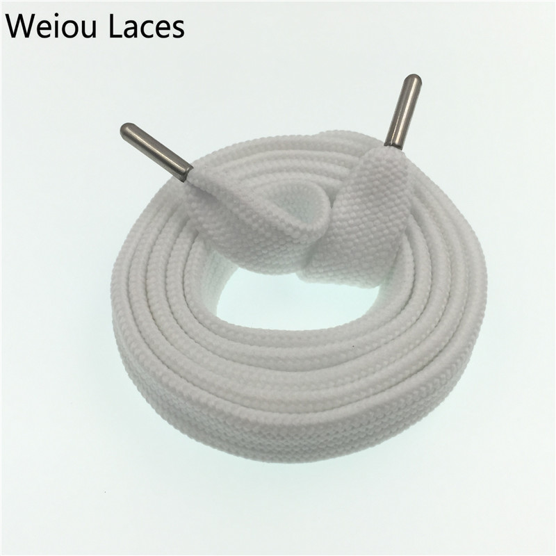 Weiou New Sneaker Coloured Trainer Crazy Athletic FAT Designer Flat Wide Boot Laces Strings 1.8cm/0.7'' Shoelaces Free Shipping