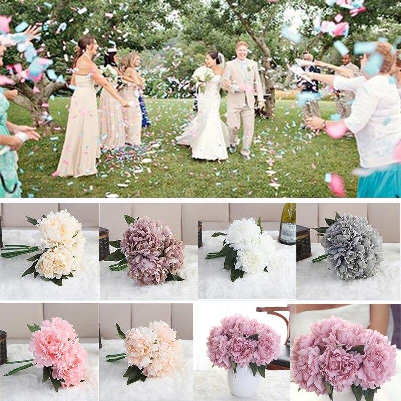 Bestseller Kunstliche Pfingstrose Bouquet Blume Braut Hortensien