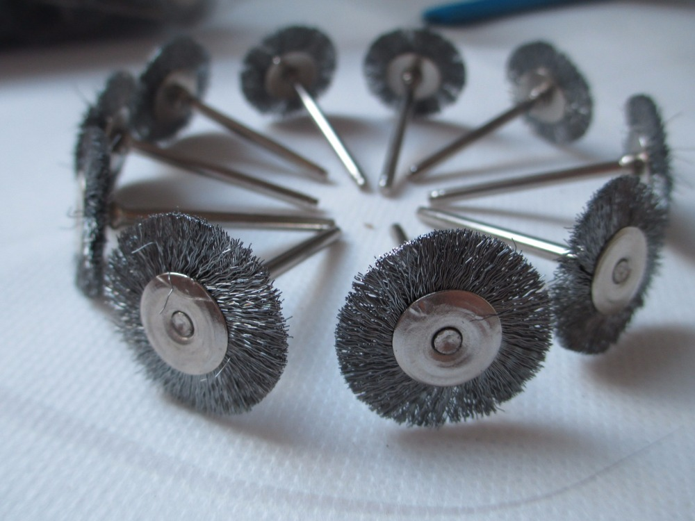 Fixmee 50pcs Stainless Steel Wire Wheel Brushes for Die Grinder ...
