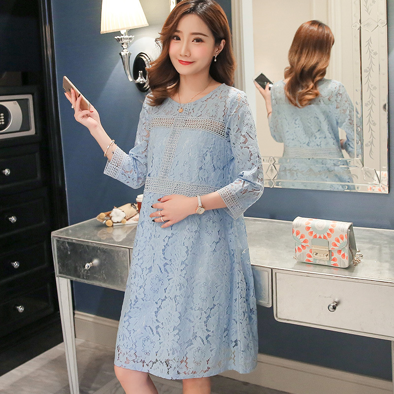Pregnant Maternidade Dresses For Photo Shoot 2018 New Dress Spring-summer Lace Fashion H ...