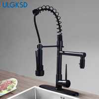 ULGKSD Chrome/ Oil Rubbed Bronze Kitchen Faucet Pull Down Sprayer Nozzle Ceramic Valve Para Kitchen Hot and Cold Water Mixer Tap