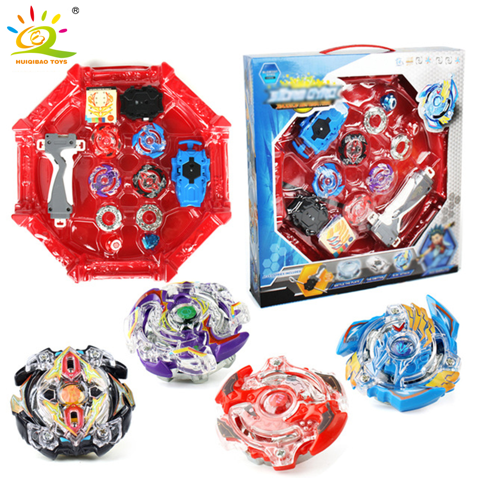 4pcs/set Classic Toys Beyblade Arena Stadium Metal Fusion Battle Metal Top Fury Masters Launcher Grip ChristmasToys For Children топор fusion battle ax sog