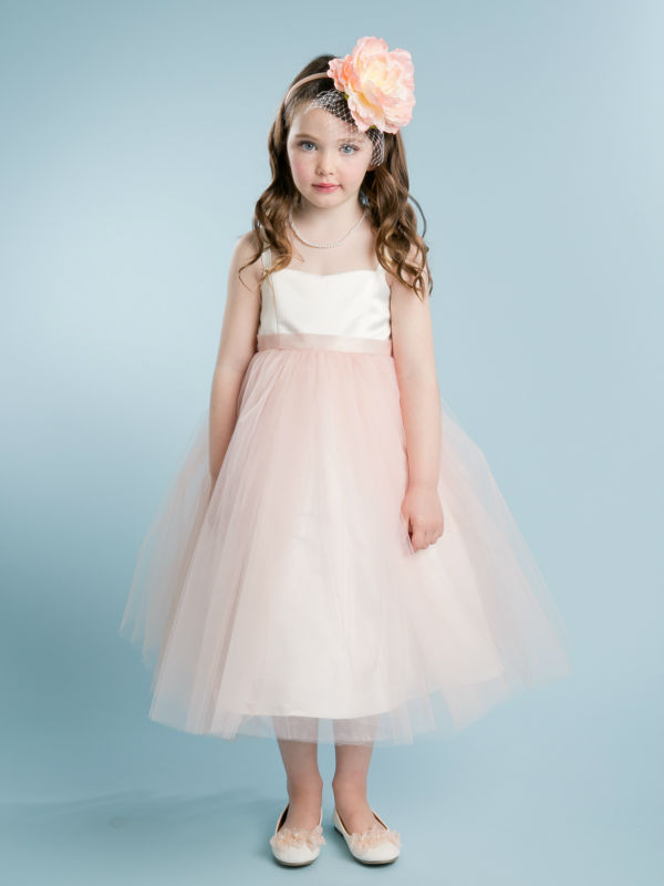 ФОТО 2016 Free Shipping  Flower Girls Dresses For Wedding Pink Girl Birthday Party Dress A-LIne Pageant Dresses for Little Girls