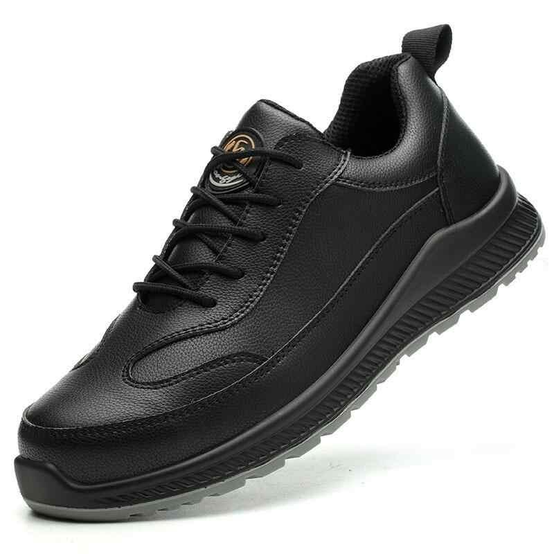 Gran tamaño, moda para hombres, puntera de acero, zapatos de seguridad para el trabajo, zapatos de cuero de vaca, zapato de trabajo, botas de seguridad, zapatos de protección de seguridad