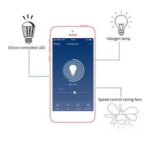 Image 2 - Zemismart اليكسا جوجل المنزل الحركية الطاقة دفع التبديل لا حاجة بطارية لاسلكية للتحكم عن بعد دعوى للضوء الهالوجين