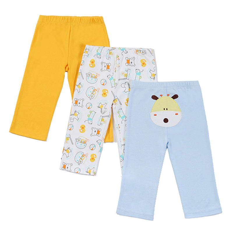 New 2016 Baby Boys Girls 3pcspack Embroidered Animals PP Pants Carter\'s Baby Leg Warm 100% Cotton Trousers Infant Clothing (6)