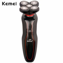 Kemei 110-240V Washable Men Shaving Machine 5D Waterproof Rechargeable Mens Floating Electric Shaver Five Heads Shaver Razor