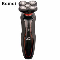 Kemei 110 240V Washable Men Shaving Machine 5D Waterproof Rechargeable Mens Floating Electric Shaver Five Heads