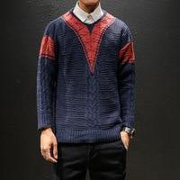 Korean Style Men V Neck Sweater Pullover Men Casual Knitting Patterns Mens Sweater Men Hip Hop Sweater Men's Cashmere Pullovers