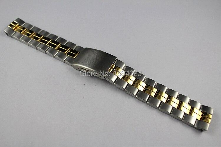 19mm T049417 T049407 T049410A új óra alkatrészek Férfi modellek óra sáv szilárd rozsdamentes acél szalag T049