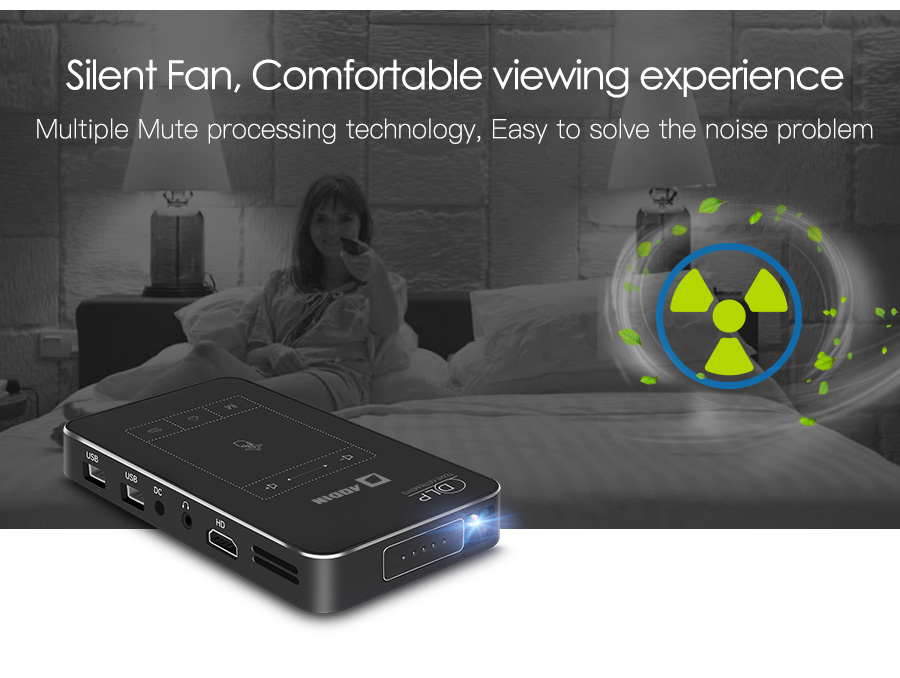 AODIAN AODIN 1+32G Portable Projector Smart Multi-touch HD 1080P DLP Projector HDMI IN mini Pocket Projector LED Android Home Theater M8S Pico projector-19