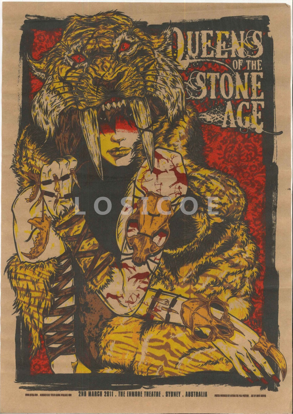 Popular stone age paintings buy cheap stone age paintings for Queens of the stone age tattoo