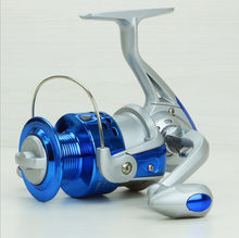 POINT BREAK SA1000-7000 Series Metal Head Super Hard Aluminium Alloy Rocker Arm Silver And Blue Shaft Spinning Reels(China)