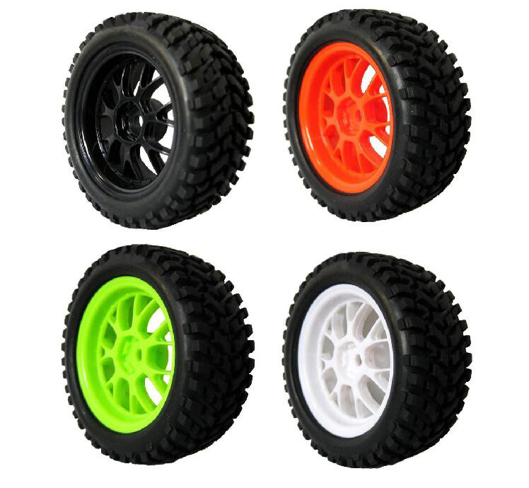 4pcs 1/16 Rally Tire Off-road tires Buggy tyres 1/10 on road car pull rally wheels suitable for HSP 94123 RC Car 75mm width 31mm 02023 clutch bell double gears 19t 24t for rc hsp 1 10th 4wd on road off road car truck silver