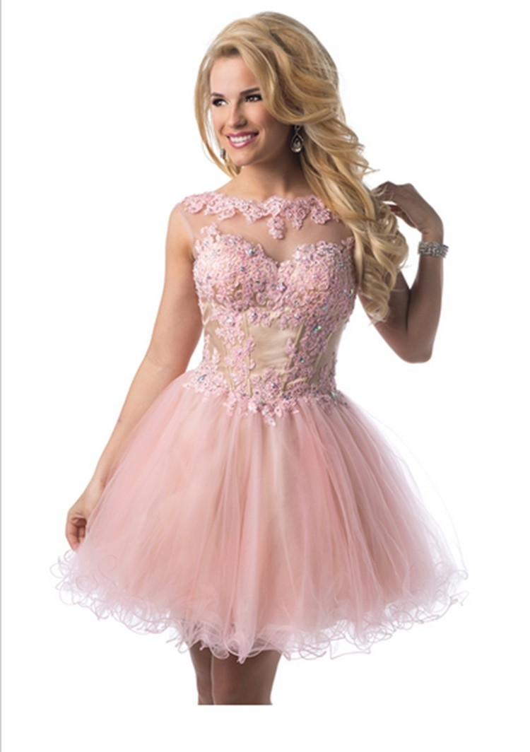 Rosa Curto Mini Vestidos De Festa Vestido Tamanho E Cor In