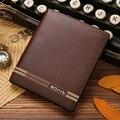 Новое поступление мода Bovis бренд мужской кожаный бумажник три складки кошелек monederos carteras хомбре