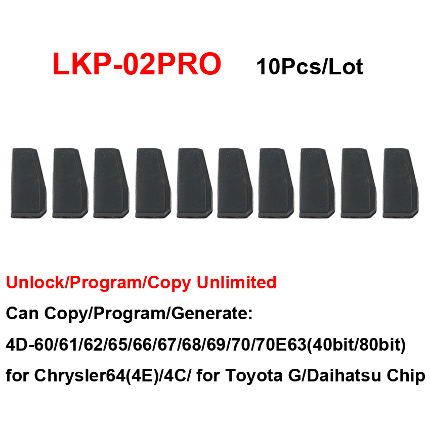 10Pcs Lot LKP 02PRO 4D 4C Blank Car Key Copy Chip for Tango VVDI KYDZ Key