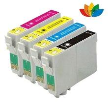 4x Совместимость T1811 T1812 T1813 T1814 картридж Для Epson XP-215 XP-312 XP-315 XP-412 XP-415 принтеры, 3 (Комплект + Черный)